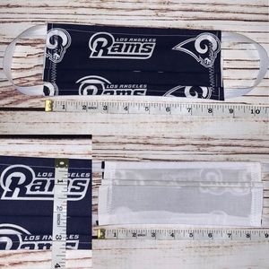 Last 1! Adult LA Rams reversible fabric face mask
